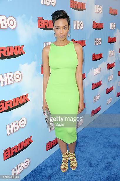 Actress Jazmyn Simon attends HBO's 'The Brink' Los Angeles Premiere at Paramount Theater on the Paramount Studios lot on June 8, 2015 in Hollywood,...