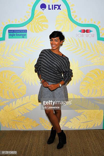 Actress Jazmyn Simon attends Kari Feinstein's Style Lounge presented by LIFX on February 26, 2016 in Los Angeles, California.