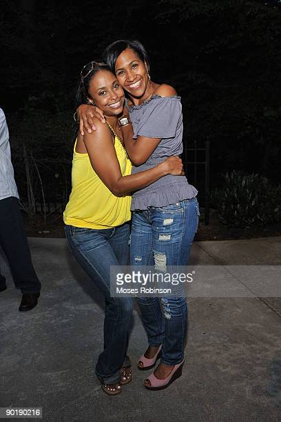 Actress Jazsmin Lewis and actress Terri Vaughn attend Vaughn's birthday party at a Private Residence on August 29 2009 in Atlanta Georgia
