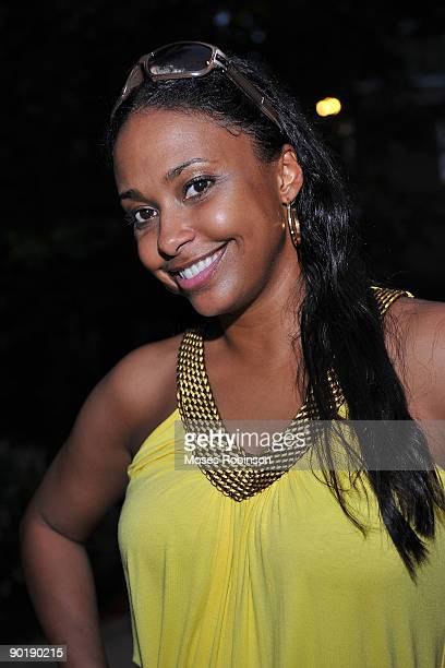 Actress Jazsmin Lewis attends Terri J Vaughn's birthday party at a Private Residence on August 29 2009 in Atlanta Georgia