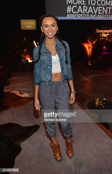 "Actress Jazzlyn Marae celebrates the Abercrombie Fitch ""The Making of a Star"" Spring Campaign Party in Hollywood CA on February 22 2014"
