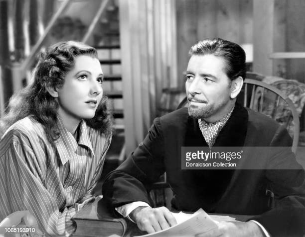 Actress Jean Arthur and Ronald Colman in a scene from the movieThe Talk of the Town