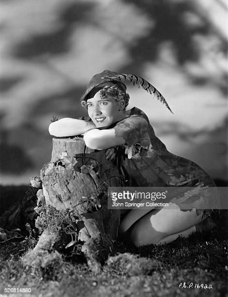 Actress Jean Arthur as Peter Pan
