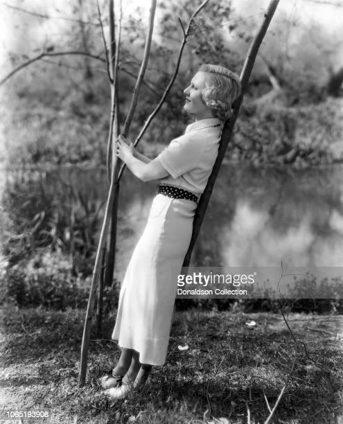 Actress Jean Arthur in a scene from the movieParty Wire