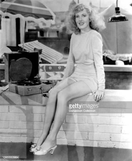 Actress Jean Arthur in a scene from the movieThe More the Merrier