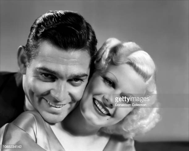 Actress Jean Harlow and Clark Gable in a scene from the movie Hold Your Man