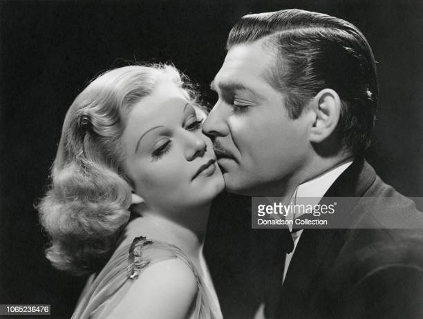 Actress Jean Harlow and Clark Gable in a scene from the movie Saratoga
