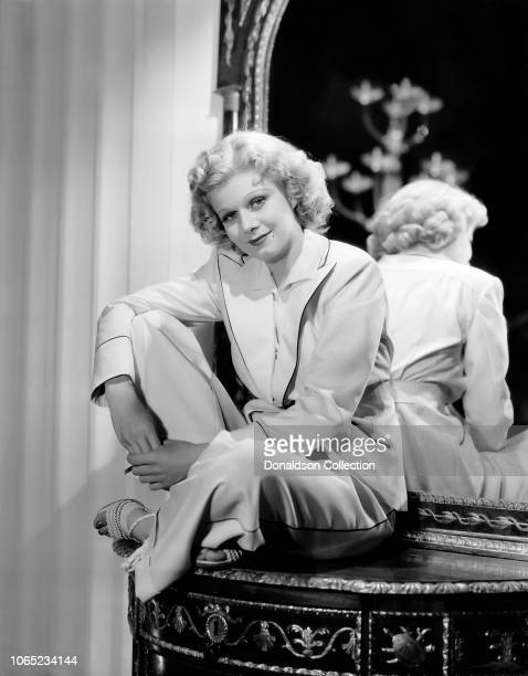 Actress Jean Harlow in a scene from the movie Libeled Lady