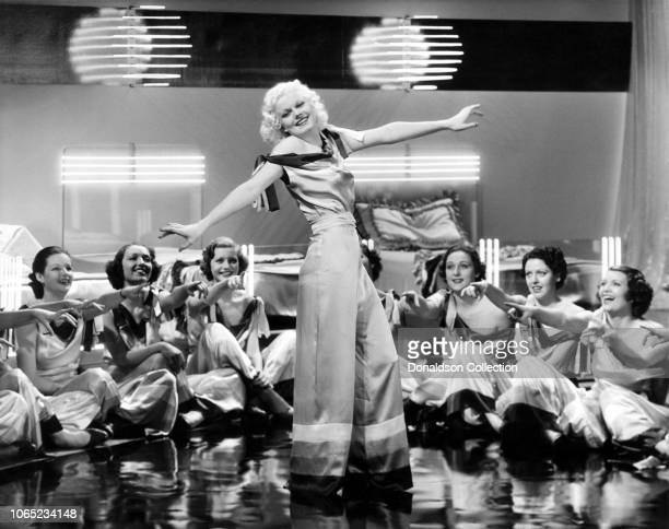 Actress Jean Harlow in a scene from the movie Reckless