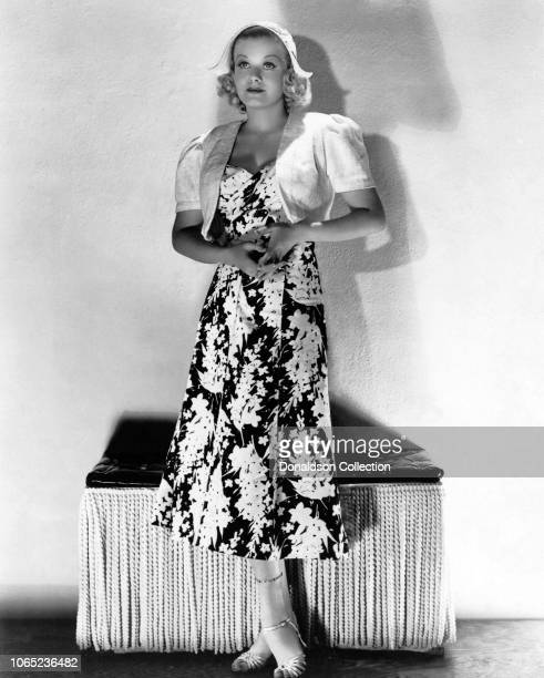 Actress Jean Harlow in a scene from the movie Saratoga