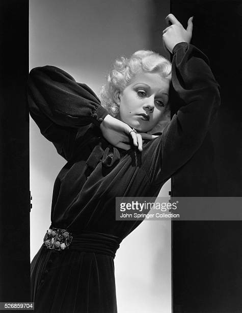 Actress Jean Harlow in Shadow