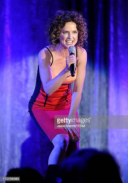 Actress Jean Louisa Kelly performs onstage during the 19th annual A Night At Sardi's fundraiser and awards dinner benefitting the Alzheimer's...