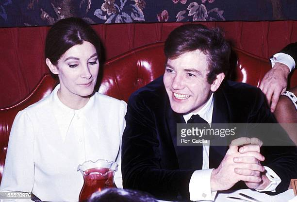 Actress Jean Marsh and actor Albert Finney attend A Day in the Death of Joe Egg Opening Night Party on February 1 1968 at Canterbury Restaurant in...