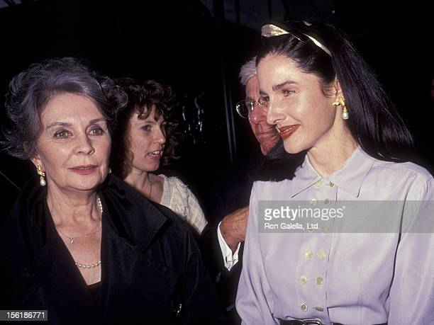 Actress Jean Simmons and daughter Tracy Granger attend the premiere of 'Spartacus' on April 25 1991 at the Director's Guild Theater in Hollywood...