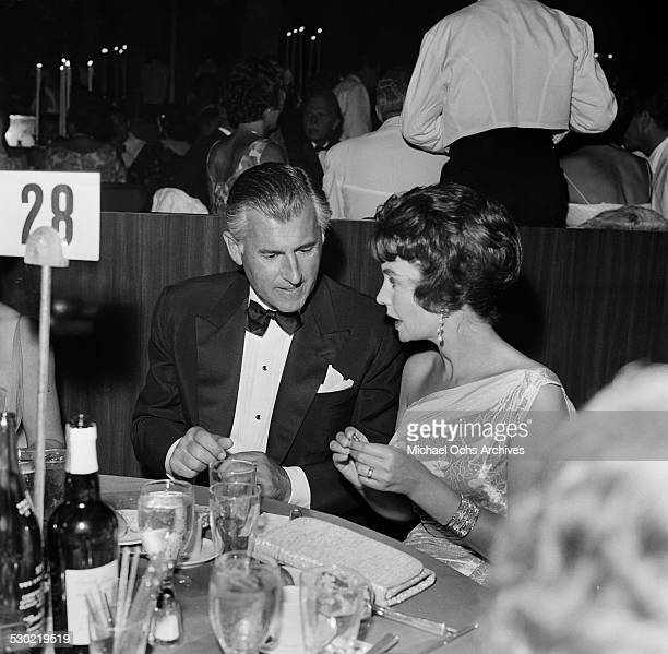 Actress Jean Simmons and husband actor Stewart Granger attend an event in Los AngelesCA