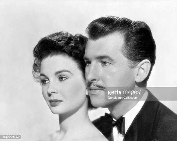"Actress Jean Simmons and Stewart Granger in a scene from the movie ""Adam and Evelyne"""