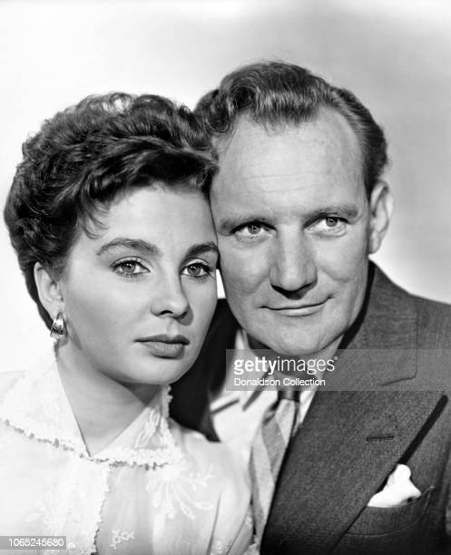 Actress Jean Simmons and Trevor Howard in a scene from the movie The Clouded Yellow