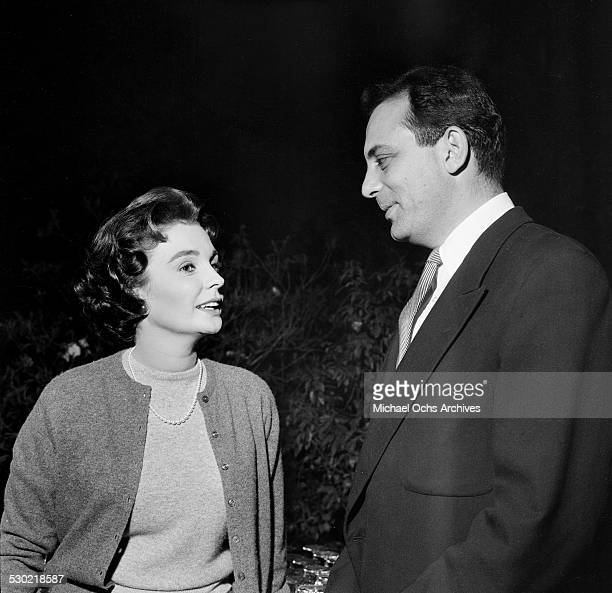 Actress Jean Simmons attends an event in Los AngelesCA