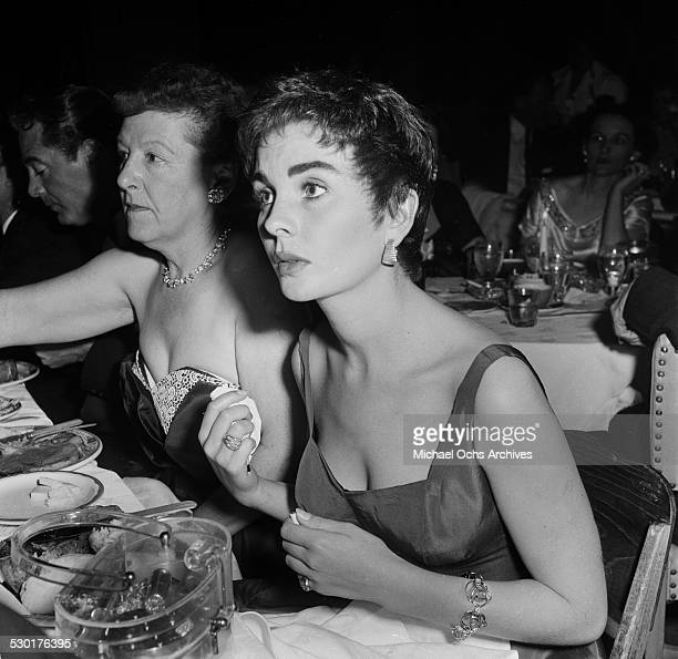 Actress Jean Simmons attends the Foreign Press Club Awards in Los AngelesCA