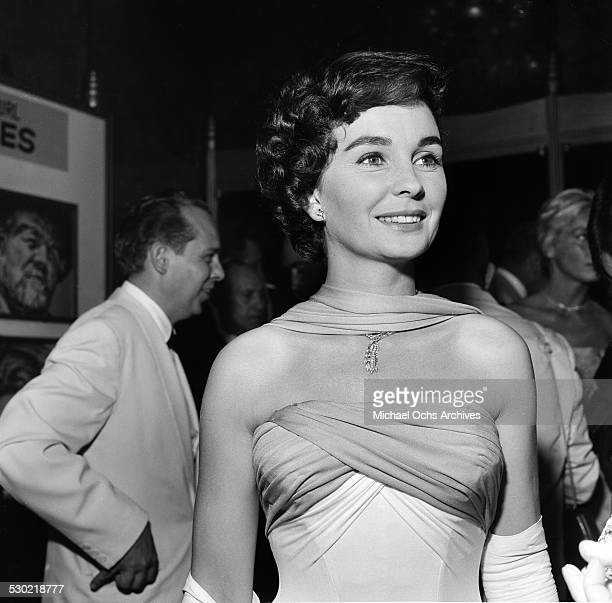 Actress Jean Simmons attends the premiere of The Big Country in Los AngelesCA