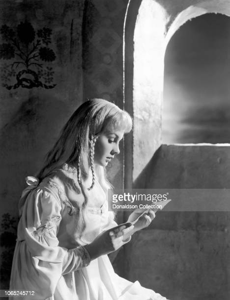 Actress Jean Simmons in a scene from the movie Hamlet