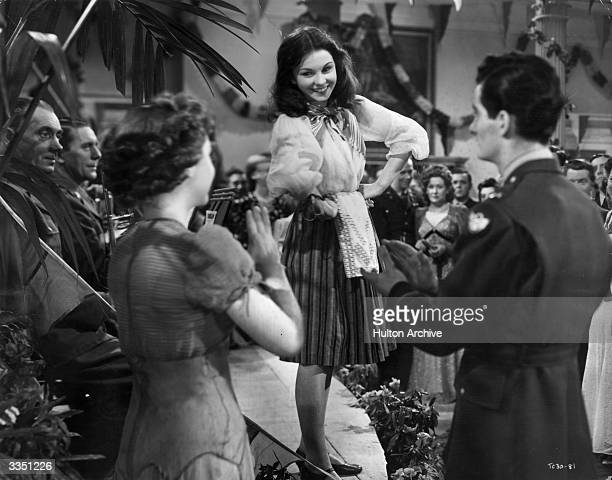 Actress Jean Simmons plays a singer in the Two Cities Films production of 'The Way to the Stars'