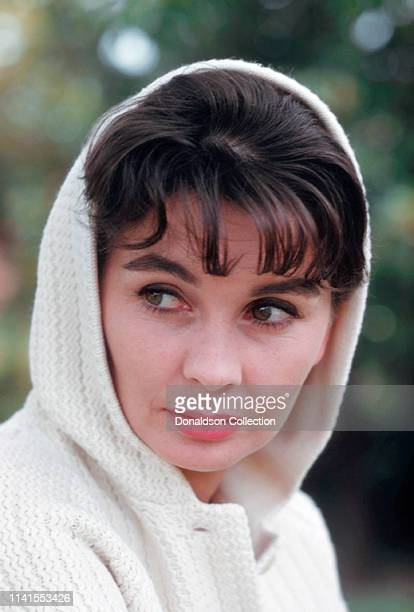 Actress Jean Simmons poses for a portrait at home in 1959