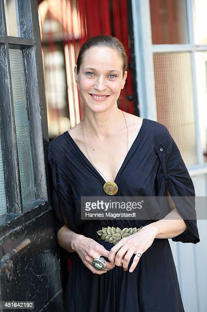 Actress Jeanette Hain attends the FFF Reception at Praterinsel on July 3 2014 in Munich Germany