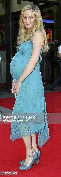 Actress Jeanette Hain attends the premiere of Volver at Kulturbrauerei Cinema on July 26 2006 in Berlin Germany