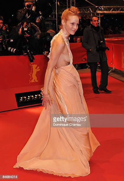 Actress Jeanette Hain attends 'The Reader' premiere during the 59th Berlin International Film Festival at the Berlinale Palast on February 6 2009 in...