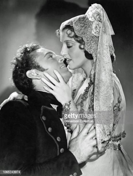 Actress Jeanette MacDonald and Allan Jones in a scene from the movie The Firefly