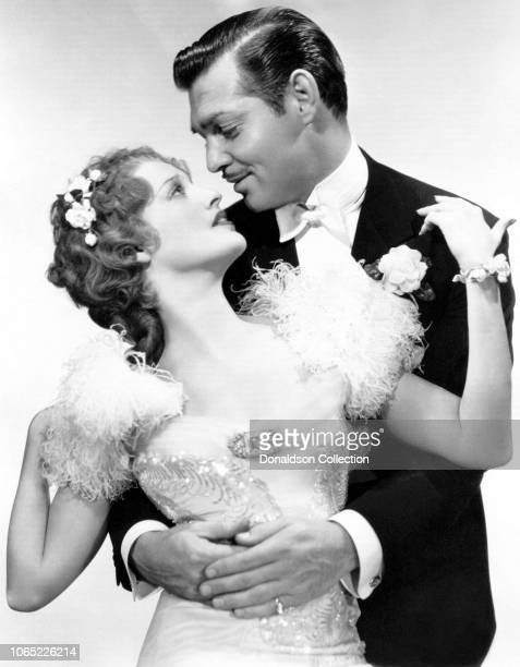Actress Jeanette MacDonald and Clark Gable in a scene from the movie San Francisco
