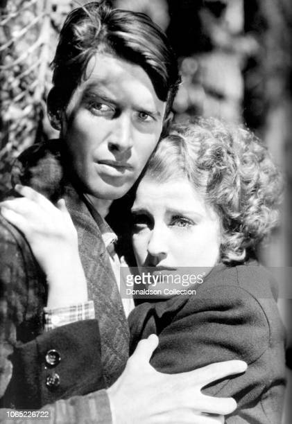 Actress Jeanette MacDonald and James Stewart in a scene from the movie RoseMarie