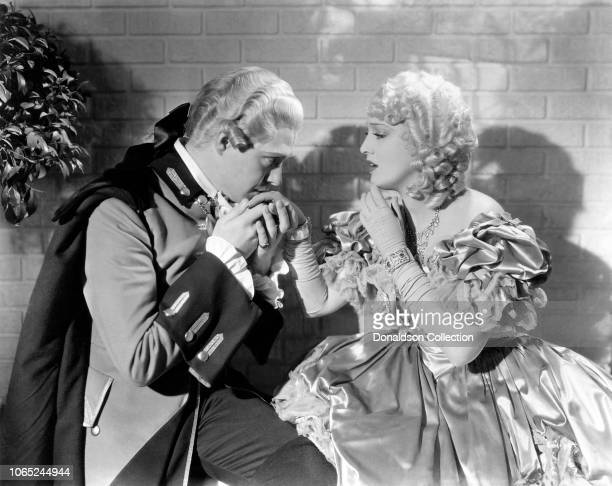 Actress Jeanette MacDonald and Nelson Eddy in a scene from the movie Naughty Marietta
