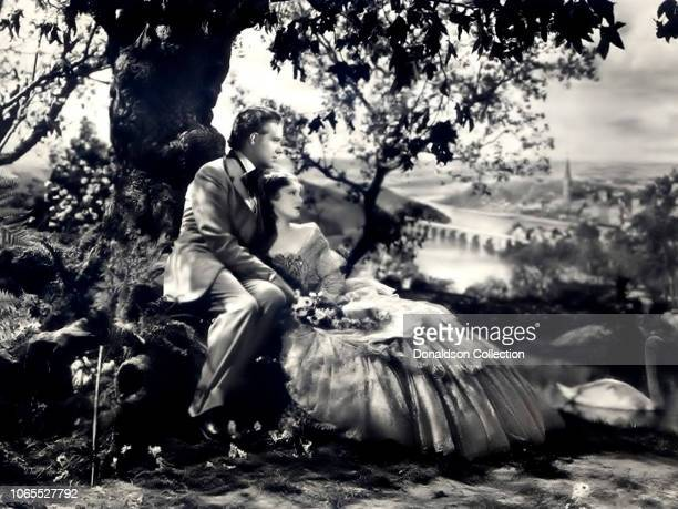 Actress Jeanette MacDonald and Nelson Eddy in a scene from the movie Maytime
