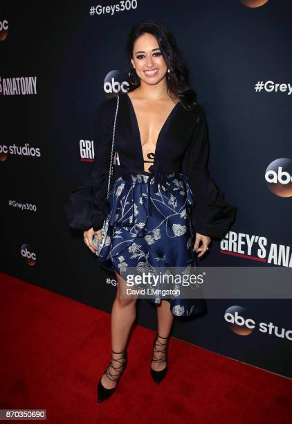 Actress Jeanine Mason attends the 300th episode celebration for ABC's Grey's Anatomy at TAO Hollywood on November 4 2017 in Los Angeles California