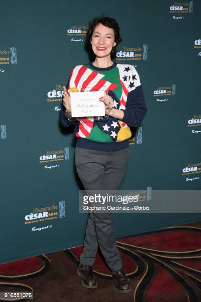 Actress Jeanne Balibar attends the Cesar 2018 Nominee Luncheon at Le Fouquet's on February 10 2018 in Paris France