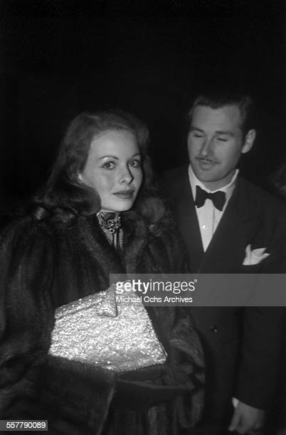 Actress Jeanne Crain and husband actor Paul Brinkman arrives at an event in Los Angeles California