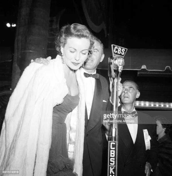 Actress Jeanne Crain attends a 20th Century Fox preview in Los Angeles, California.