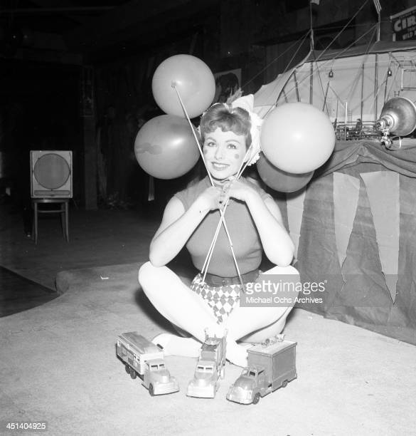 Actress Jeanne Crain attends a birthday party in Los Angeles California