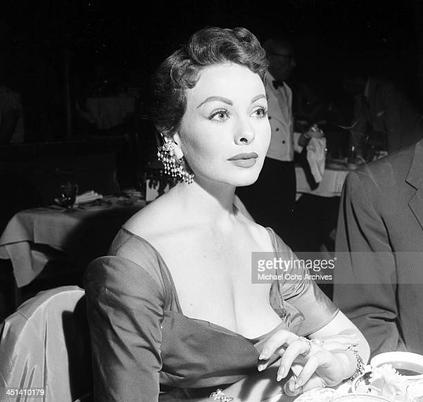 Actress Jeanne Crain attends a dinner in Los Angeles California