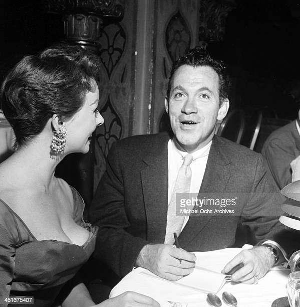 Actress Jeanne Crain attends a dinner with Mike Connelly in Los Angeles California