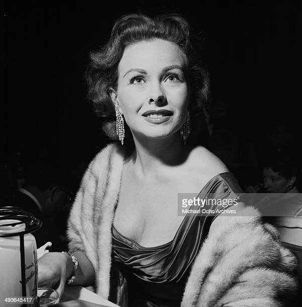 Actress Jeanne Crain attends the Moulin Rouge opening in Los Angeles California