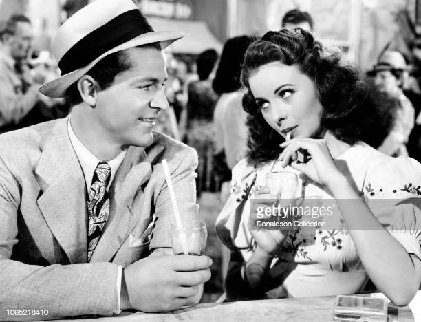 """Actress Jeanne Crain, Dana Andrews in a scene from the movie """"State Fair"""""""