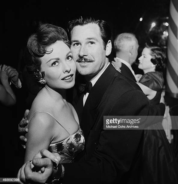 Actress Jeanne Crain dances with her husband Paul Brinkman at dinner at Mocambo's in Los Angeles California