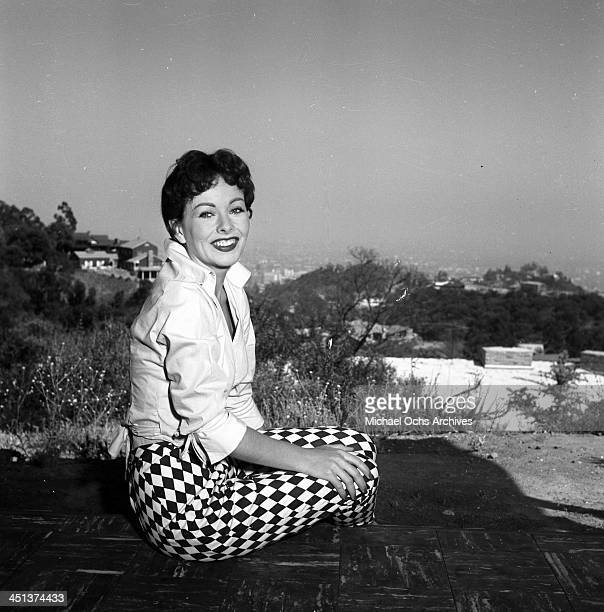 Actress Jeanne Crain poses at home in Los Angeles, California.