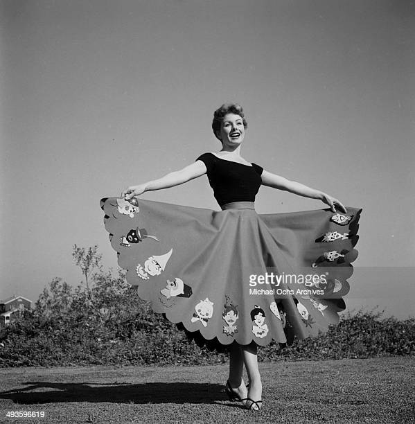 Actress Jeanne Crain poses at home in Los Angeles California