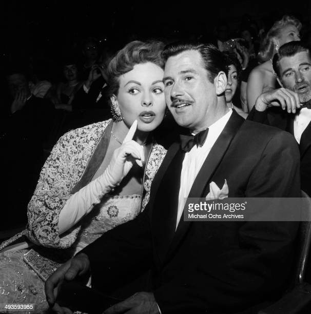 Actress Jeanne Crain with her husband Paul Brinkman attends the premiere High and Mighty in Los Angeles California
