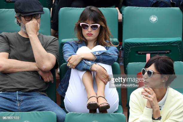 Actress Jeanne Damas and her companion Victor attend the 2018 French Open Day Ten at Roland Garros on June 5 2018 in Paris France