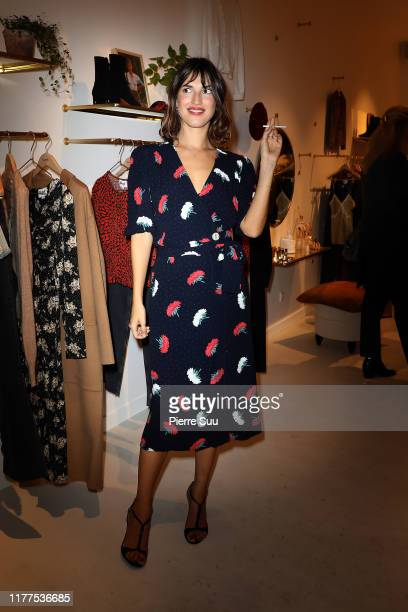 "Actress Jeanne Damas attends the ""Rouje"" Boutique Opening In Paris as part of Paris Fashion Week on September 27, 2019 in Paris, France."